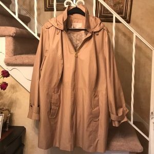 Michael Kors Trench Style Jacket Tan w/Gold